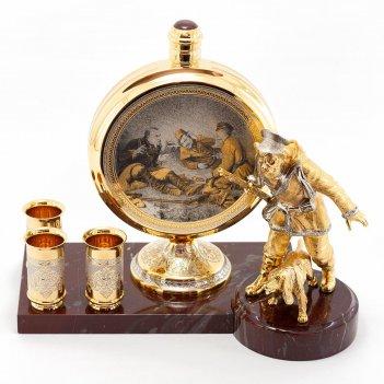 Подарочный набор охотник камень яшма