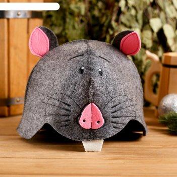 Колпак для бани  шапка символ года. мальчик, экофетр
