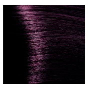 Крем-краска для волос kapous с гиалуроновой кислотой, 4.2 коричневый фиоле