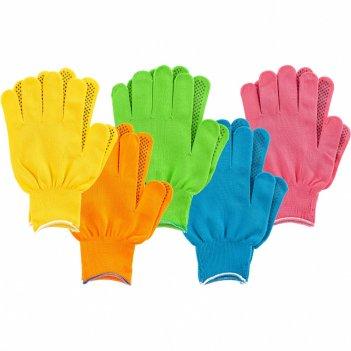 Перчатки в наборе, цвета: зеленый, розовая фуксия, желтый, синий, оранжевы