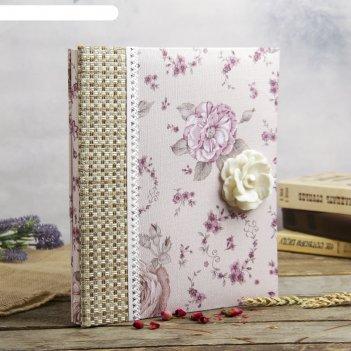 Фотоальбом магнитный 10 листов романтика цветов текстиль 32,5х27,5х4 см