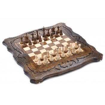 Шахматы + нарды резные шахматная история 40, harutyunyan