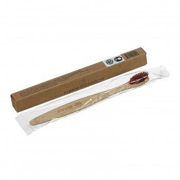 Зубная щетка для взрослых коричневая