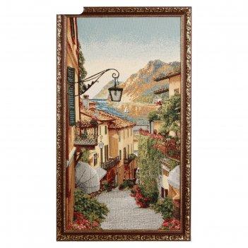 Гобеленовая картина цветочная улица-2 40*75 см