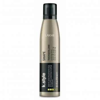 Лосьон для укладки волос, придающий объём lakme k.style thick&volume shape