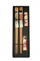 Набор палочек для суши на 2 персоны с подставками 25*8*2см (