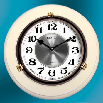 Часы настенные для дома и офиса sinix 1018wa-white