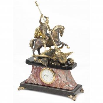 Часы георгий победоносец креноид змеевик бронза 210х100х270 мм 3800 гр.