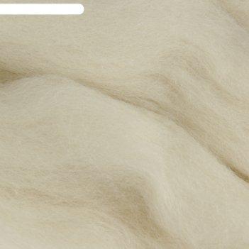 Шерсть для валяния 100% тонкая шерсть 50гр (166 суровый)