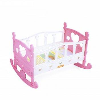 Кроватка-качалка для кукол сборная, 7 элементов, в пакете, микс