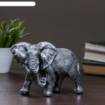 Фигура слон африканский серебро 18х9х13см
