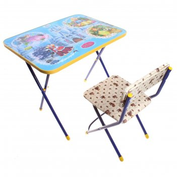 Набор детской мебели познайка. волшебный мир складной, цвета стула микс