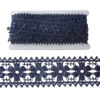 Тесьма декоративная для творчества синие цветы