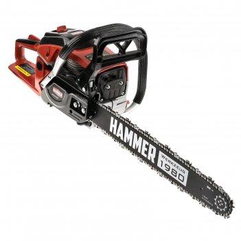 Бензопила hammer bpl5518c, 2.2 квт/3 л.с., 55 см3, 18, паз 1.5 мм, шаг 0.3