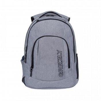 Рюкзак молодежный эргоном.спинка grizzly rq-903-2 48*36*19, серый