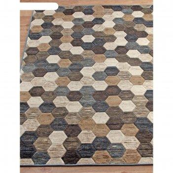Прямоугольный ковёр matrix d579, 160x230 см, цвет beige-blue