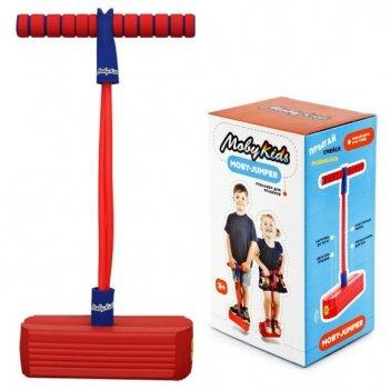 Moby-jumper. тренажер для прыжков со звуком, красн.