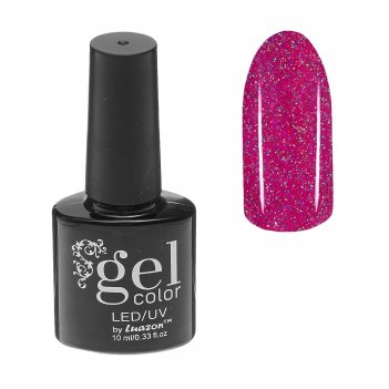 Гель-лак для ногтей, трёхфазный, led/uv, с блёстками, 10мл, цвет 5284-443