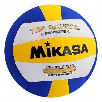 Мяч волейбольный mikasa isv100ts, р.5, бело-желто-синий