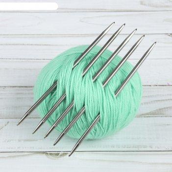 Спицы для вязания, чулочные, d = 4,5 мм, 15 см, 5 шт