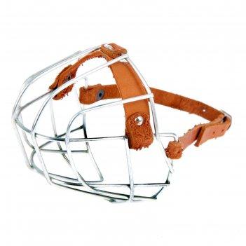 Намордник металлический «зооник» №с (стаффорд), длина по носу 9,5 см, обхв