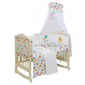 Комплект в кроватку «чудесный день», 6 предметов, цвет жёлтый