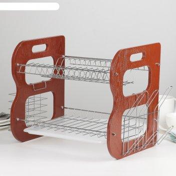 Сушилка для посуды 40х23,5х34 см стойка, в-образная