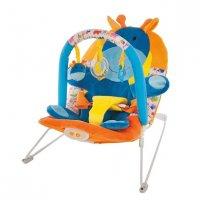 """Кресло-качалка """"жирафик"""" с 3-мя развивающими игрушками, вибрацие"""