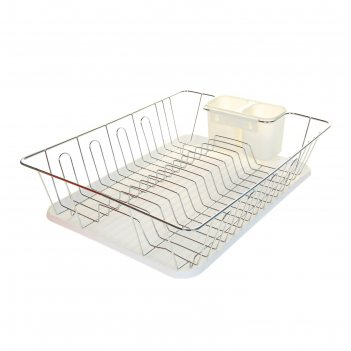 Сушилка для посуды с поддоном, цвет микс