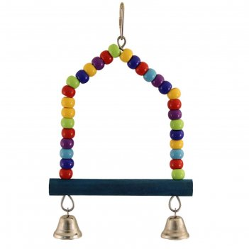 Качели-бусины для птиц triol  с колокольчиками, 24 см