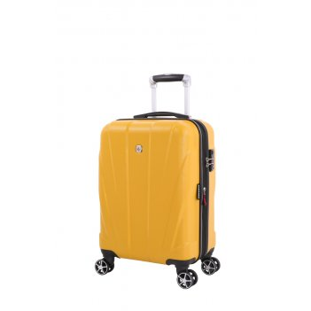 Чемодан swissgear adams, желтый, абс-пластик, 35 x 25 x 55 см, 37 л