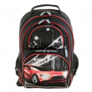 Рюкзак школьный с эргономичной спинкой, calligrata, 36 х 23 х 13, «тачка»,