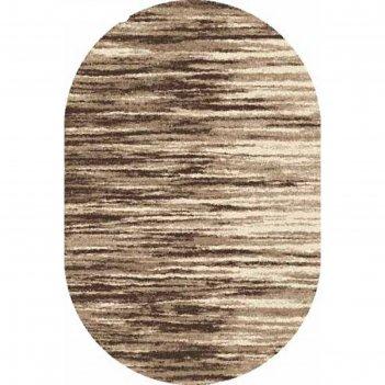 Ковёр фризе пп platinum t623, 2*4 м, овал, beige