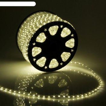 Led шнур 13 мм, круглый, 100 м, фиксинг, 2w-led/м-36-220v в компл. набор д