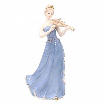 Фигурка декоративная девушка со скрипкой, l15 w12 h33 см
