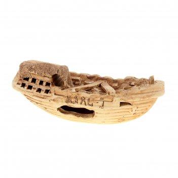 Аквадекор-грот для аквариума №47 корабль
