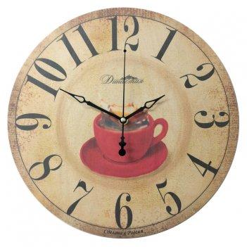 """Настенные часы из дерева  02-028 """"чашка"""""""