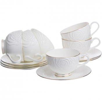 Чайный набор blanco на 6 персон 12 пр. 200 мл.