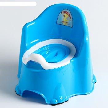 Горшок детский антискользящий «комфорт» с крышкой, съёмная чаша, цвет голу