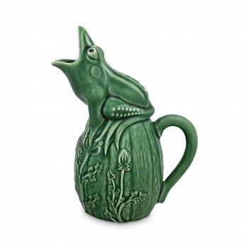 Кувшин «лягушка», объем: 1,4 л, материал: керамика, цвет: зеленый, bor6500