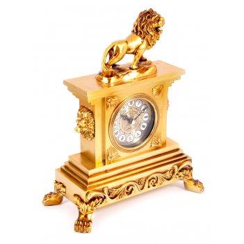 Часы каминные лев 25*13*32см