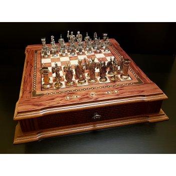 Шахматы подарочные цитадель роза антик