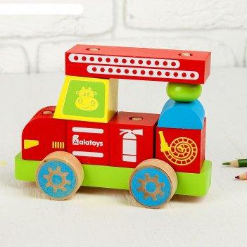 Конструктор-каталка пожарная машина