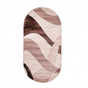 Овальный ковёр omega hitset 4878, 2 х 4 м, цвет bone-beige