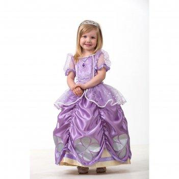Карнавальный костюм «софия прекрасная», текстиль, размер 32, рост 122 см
