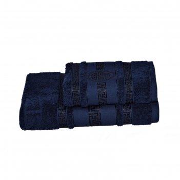 Полотенце махровое спартак 70х140 +/- 2 см, темно-синий, хлопок 100%, 430г