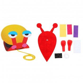 Набор для творчества - создай улитку из водушного шарика и фетра, цвет кра