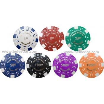 Фишки для игры в покер russian pro (шелкография)