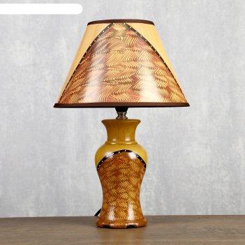 Лампа настольная гелиодор ваза керамика, 40 см (v220/e14) выкл.на шнуре