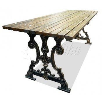 Стол садовый чугунный «ампир» 1,5 м